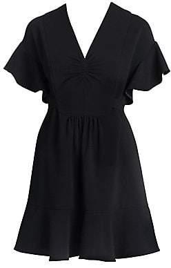 Miu Miu Women's Flutter Sleeve Mini Dress