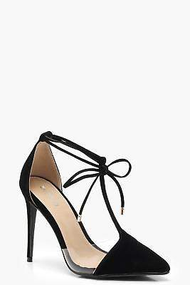 boohoo NEW Womens Pointed T Bar Heels in