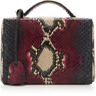 Mark Cross Small Grace Python Box Bag