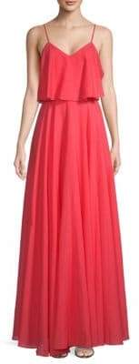 Halston V-Neck Popover Gown