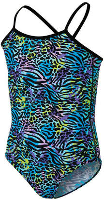 Zoggs Girls Wild Thing One Piece Swimsuit