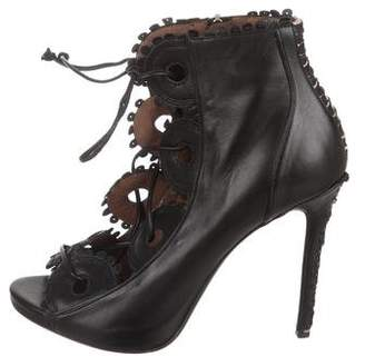Tabitha Simmons Leather Laser Cut Booties