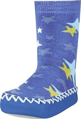 Playshoes Girls Slipper Socks, Moccasins, House Shoes, Stars Socks,(Manufacturer Size:17-18/)