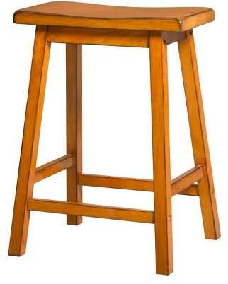 ACME Furniture ACME Gaucho Counter-Height Stool, Antique Oak, Set of 2