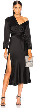 Michelle Mason Asymmetrical Dress With Tie