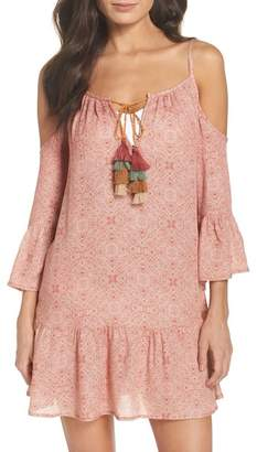 Surf Gypsy Tassel Cold Shoulder Cover-Up Tunic