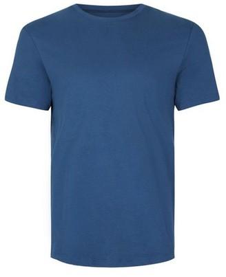 Topman Mens Dark Blue Slim Fit T-Shirt