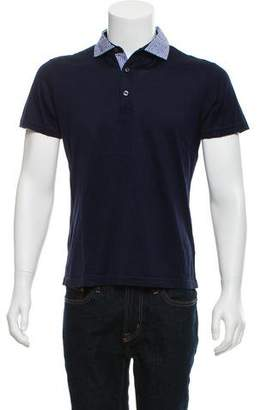 Pal Zileri Gingham Trim Polo Shirt