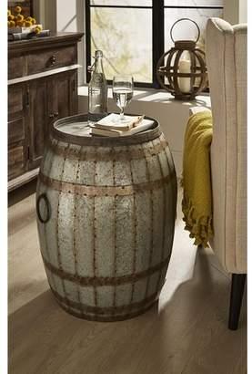Woodland Imports Vineyard Wine Barrel End Table