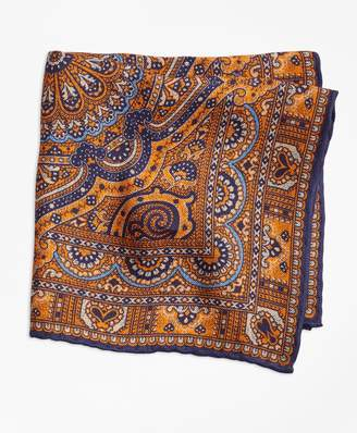Brooks Brothers Double-Sided Paisley Pocket Square