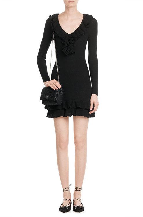 MoschinoBoutique Moschino Wool Dress with Ruffled Collar