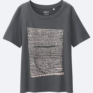 UNIQLO Women's Sprz Ny Super Geometric Graphic T-Shirt (gego) $14.90 thestylecure.com