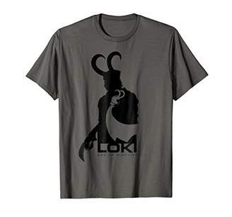 Marvel Loki Silhouette And Shadow Graphic T-Shirt
