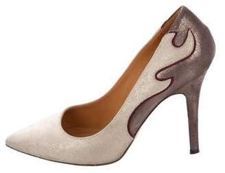 Etoile Isabel Marant Pointed-Toe Metallic Pumps