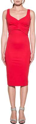 DSQUARED2 Red Stretch Dress