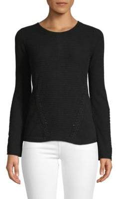 Braided Cashmere Sweater