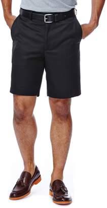 Haggar Big & Tall Cool 18 Plain-Front Microfiber Shorts