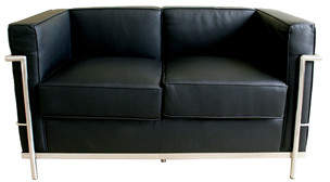 Latitude Run Quebec Leather Loveseat