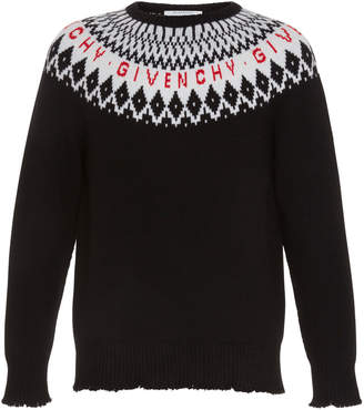 Givenchy Patterned Wool Logo Sweater