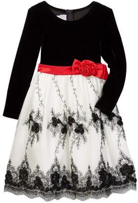 Iris & Ivy Embroidery Detail Dress (Toddler & Little Girls)
