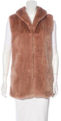 Reiss Faux Fur Shawl Collar Vest $130 thestylecure.com