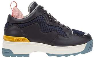 Fendi colourblock platform sneakers
