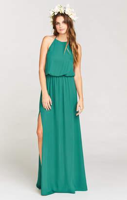 Show Me Your Mumu Heather Halter Dress ~ Hutch Green Crisp