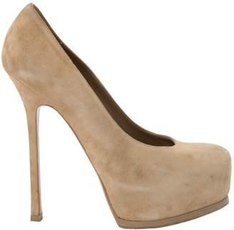 22f89bb66d2 Saint Laurent Beige Shoes For Women - ShopStyle UK