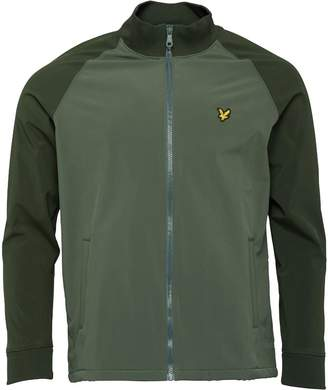 Lyle & Scott Vintage Mens Funnel Neck Soft Shell Jacket Leaf Green