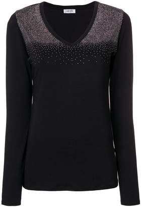 Liu Jo embellished v-neck blouse