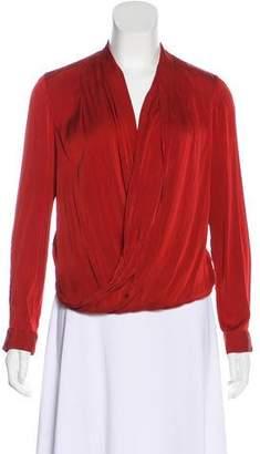 Diane von Furstenberg Pleated Silk Blouse