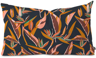Deny Designs Holli Zollinger Anthology Of Pattern Elle Bird Of Paradise Dark Oblong Throw Pillow