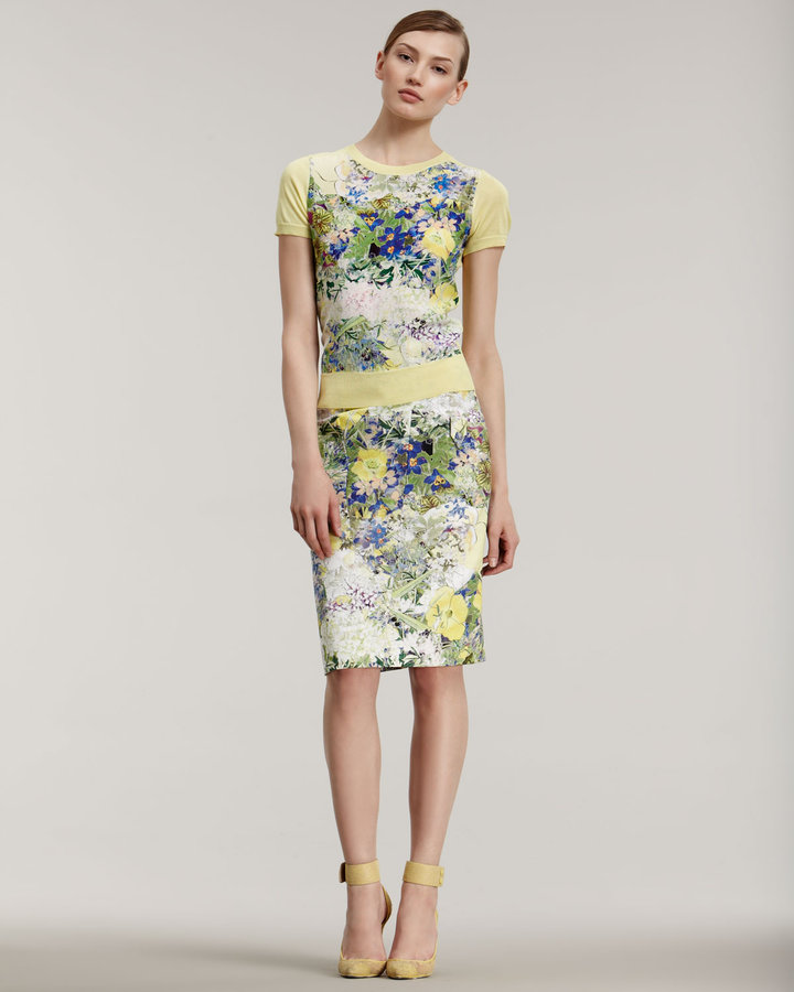 Erdem Arizona Floral-Print Top