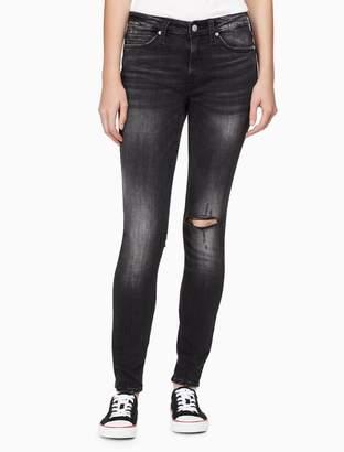 Calvin Klein super skinny ripped jeans