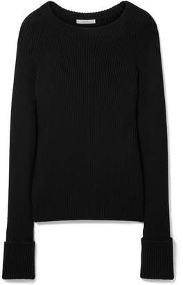 The Row Sabra Ribbed Wool Sweater - Black