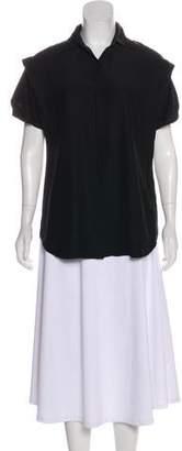 Lafayette 148 Silk Short Sleeve Top