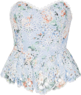 Zimmermann Bowie Strapless Lace Bustier