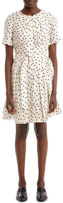 Diane von Furstenberg Short Sleeve Cinched Waist Belted Dress