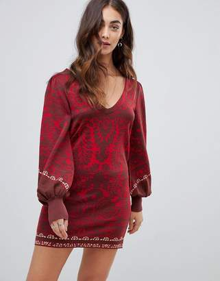 Free People Music and Lyrics knitted mini dress