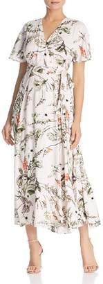 Elan International Botanical Maxi Wrap Dress