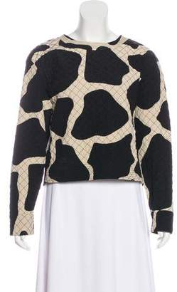 DKNY Quilted Long Sleeve Sweatshirt