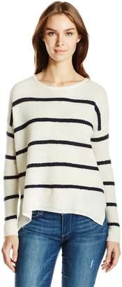 Velvet BY GRAHAM & SPENCER Women's Cashmere Blend Stripe Sweater