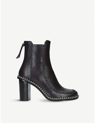 J.W.Anderson Scarecrow stitched leather ankle boots