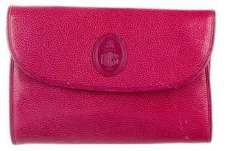 Mark Cross Leather Flap Clutch Bag