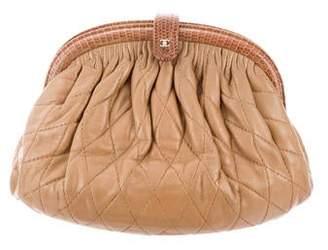 Chanel Lizard Trim Lambskin Frame Bag