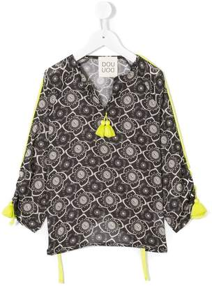 Douuod Kids tasselled floral blouse