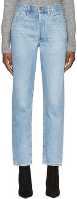 Gold Sign Blue The Benefit High Rise Jeans