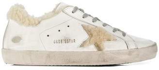 Golden Goose Shearling Superstar Sneakers