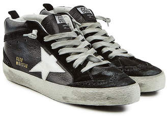 Golden Goose Mid Star Patent Leather Sneakers