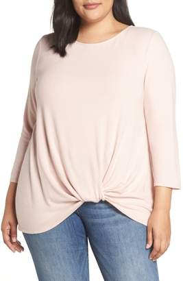 Gibson Twist Front Cozy Pullover